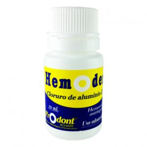 hemodent 20ml CLORURO DE ALUMINIO 20% Productos Odontológicos y Bioseguridad