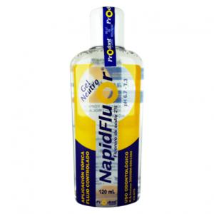 napidfluor neutro 120ml Gel de Fluoruro de Sodio 2%. pH NEUTRO Desensibilizante