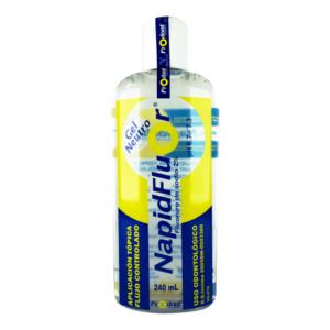 napidfluor neutro 240ml Gel de Fluoruro de Sodio 2%. pH NEUTRO Desensibilizante