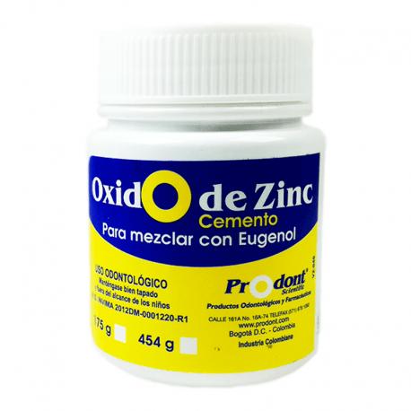 oxido de zinc 175gr Polvo cementante que actúa como un capuchón para la pulpa