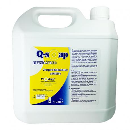 q soap enzimatico galon Detergente multienzimático Productos Odontológicos y Bioseguridad Prodont colombia